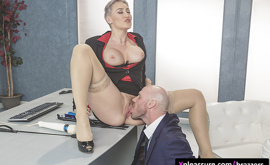Brazzers - Big Tits at Work - Product Placement In Her Pussy scene starring Ryan Keely & Johnny Sins
