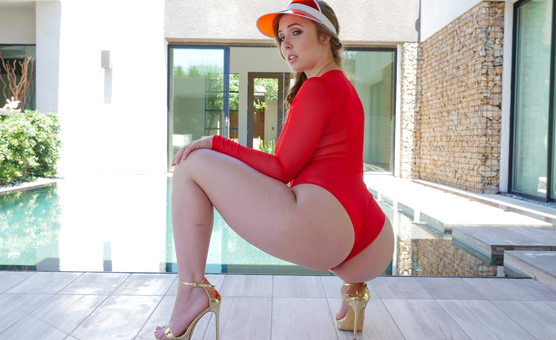 TeamSkeet - Teen Curves - Poolside Poundage With The Thickness scene starring Lena Paul & Johnny Castle